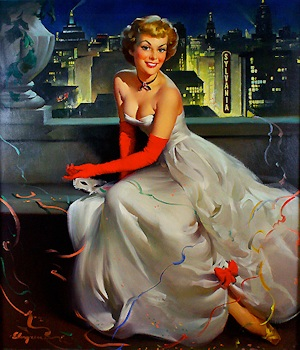 New York City - Miss Sylvania by Gil Elvgren