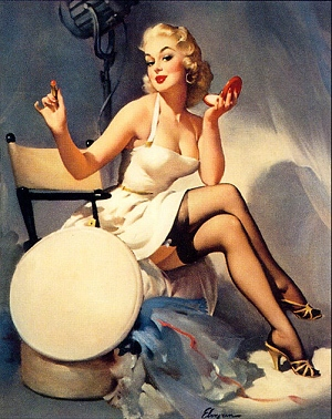 """All Set"" by Gil Elvgren 1956"