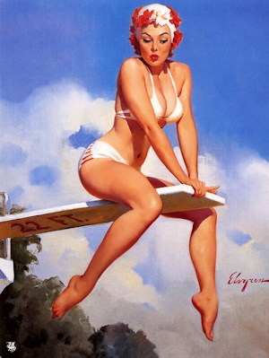Second Thoughts by Gil Elvgren
