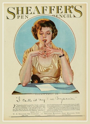 1930's Sheaffer's Pen Ad