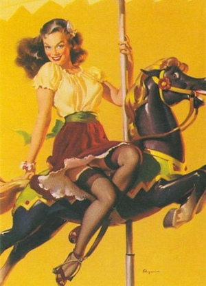 Gil Elvgren - Let's Go Around Together