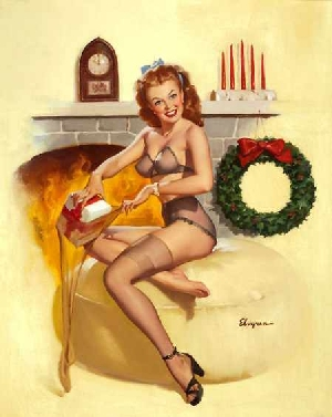 Gil Elvgren Holiday Pin Up