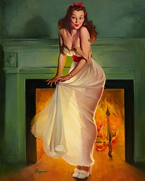 Sheer Delights by Gil Elvgren (1948)