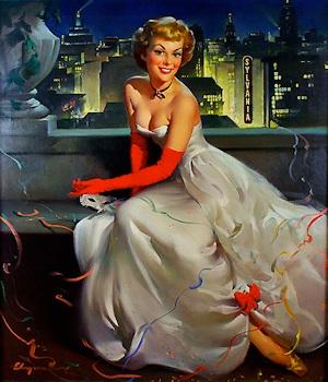 New York City - Miss Sylvania by Gil Elvgren