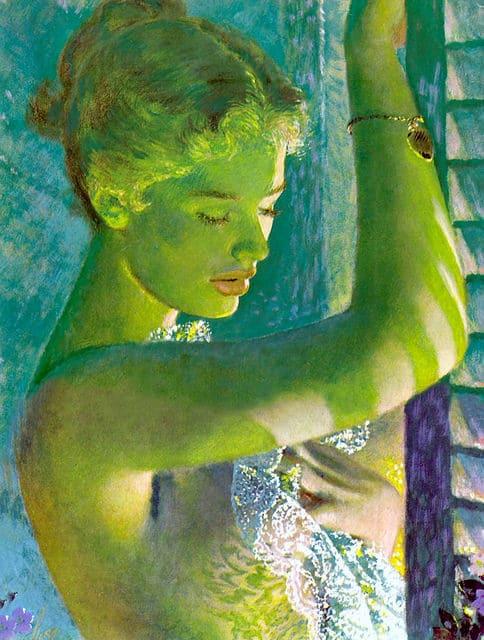 Lady in the Windo by Edwin Georgi