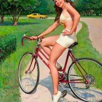 BikingBeauty_Gil Elvgren