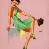 She knows a Tiday House is Happier ( Vintage Pin Up by Earl Moran)