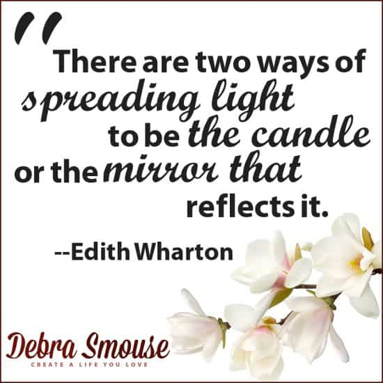 be the candle or the mirror